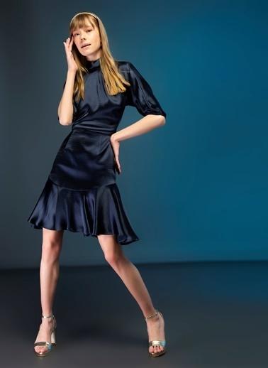 Tuvanam X Fabrika Elbise Lacivert